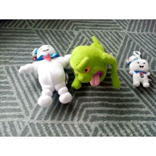 Ghostbusters knuffels slimer marshmallow man stay puft