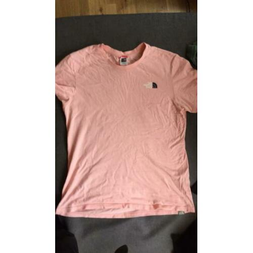 North face shirts roze/ groen maat M