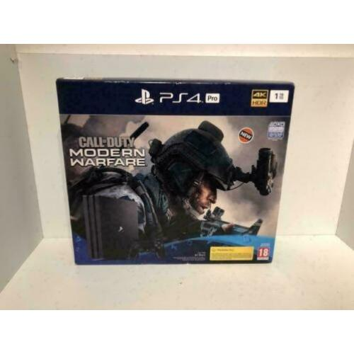 Playstation 4 Pro 1TB + Call of Duty Modern Warfare Nieuw!